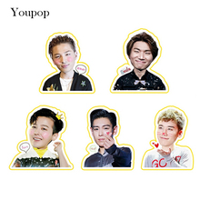 Youpop KPOP BIGBANG Q GD TOP DaeSung SeungRi Album PVC Stickers For Luggage Cup Notebook Laptop Car Fridge DIY Stickers TZ004