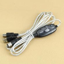 MIDI USB IN-OUT Interface Cable Cord Line Converter PC to Music Keyboard Adapter(China)