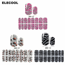 ELECOOL 1 sheet Nail Arts Sticker 3D Diamond Nail Decal Art Sticker Gel Polish DIY Manicure Beauty Makeup Nails Decorations(China)