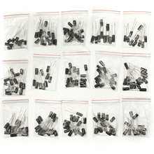 2017 Hot New 200Pcs 15 Value Electrolytic Capacitor Assortment Kit (1uF~220uF) Capacitors Assorted Set on sale(China)