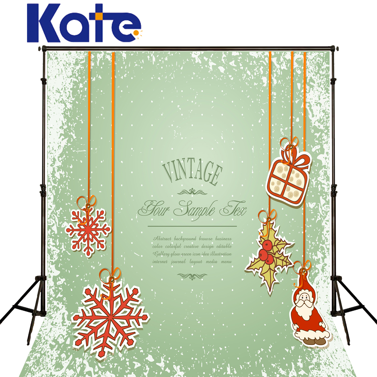 Kate Christmas Background Photography Snowflake Spot Fall Fundo Fotografico Madeira Green Screen Backdrop For Photo Shoot<br>