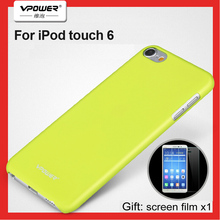 With Screen Protector For iPod Touch 6 Case Original Vpower Luxury Plastic Hard Case For Apple iPod Touch6 Coque Back Covers