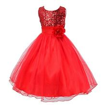 Hot! Dress Baby Girls Lace Elegant Clothes,Kids Wedding Flowers Girls Princess Vestido,Girls Bridal Tulle Formal Party Dress