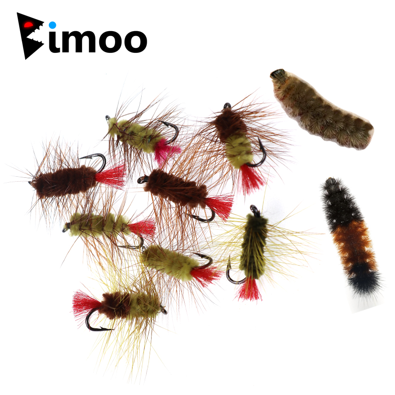 12 Pack Mixed Hook Size 16//18//20 Fishing Flies Small Black Ants Trout Flies