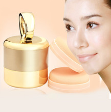 2017 New Designed Puff Vibrating Make Up Foundation Applicator Tool Boxed With 2 Extra Puffs ABS+ Synthetic sponge Anne(China)