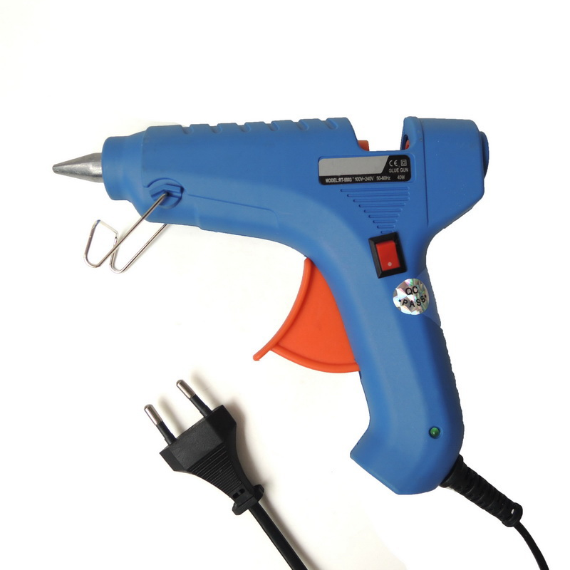 Applicator 40W EU Plug Hot Melt Glue Gun with Free 1pc 11mm Glue Stick Heat Temperature Tool Industrial Mini Guns Thermo Gluegun<br><br>Aliexpress