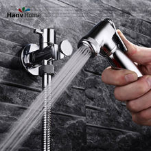 Toliet Hand held Bidet Shower Set Portable Bidet Sprayer Shattaf & Holder & 1.2m Hose(China)