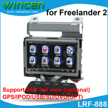 "7"" Car DVD GPS Player  for Land Rover Freelander 2 with  GPS IPOD BT USB SD DVD(opt) 360 full view (opt) free shipping & map"