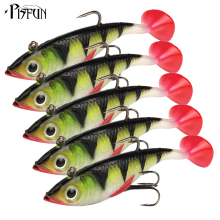 Pisfun 5pcs/set 8.5cm/11g Soft Lures Swimbait Lead Fishing lure Wobbler Saltwater Artificial Bait Rubber Lures Fishing Tackle