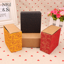 Kraft Paper Drawer Box Handmade Soap Wedding Party Gift Craft Candy Packaging Boxes Red Yellow Black Free Shipping