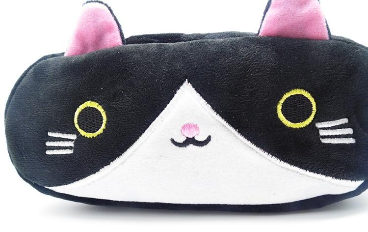 Plush Pencil Case School Supplies For Girls Stationery Office Cute Kawaii Cartoon Cat Pen Bag pouch kits Kids Gift Makeup bag (10)