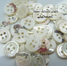 Boutique Shell shirt buttons 10mm 4 hole thin edge trocas shirt shell buttons for sewing clothing sewing accessories wholesale
