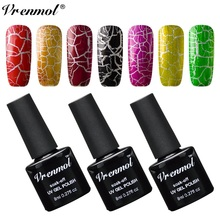 Vrenmol 8ml Magic Change Crack Shatter Gel Nail Polish Soak Off Long Lasting Crackle Nail Gel Polish Nail Art Design Varnish(China)