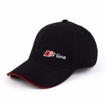 Car Styling Sline Emblem Baseball Cap Hat Audi A3 Sline A4 B6 A6 C5 B8 B7 C6 Q5 Q7 A3 8P A7 Q3 Accessories Sport Cap