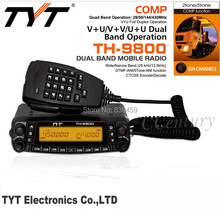 radio station car transceiver TYT TH-9800 Quad Band 29/50/144/430MHz & 26-950MHz Coverage VV,VU,UU Dual Receiver