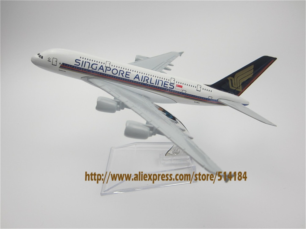 16cm Alloy Metal Air Singapore Airlines Airbus 380 A380 Airways Airplane Model Plane Model W Stand Aircraft Gift(China (Mainland))