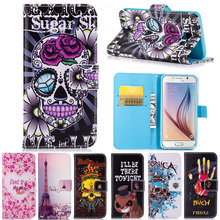 Popular Art Pattern Flip Leather Wallet Case for Samsung Galaxy S3 S4 S5 Neo S6 S7 Edge S8 Plus Stand Shell Cover Phone Cases