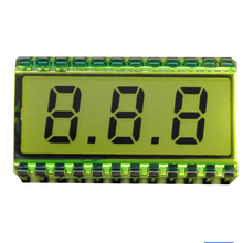 EDS812 3 Bit LCD Display Module Digit Clock 30.7*16.2*2.8mm  8 Characters 5V LCD Screen Glass