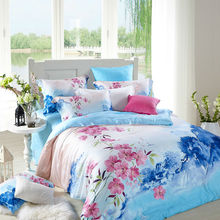 BEYOND CLOUD 100% Cotton Tribute Silk Home/Hotel Bedding Sets King Queen Size High Quality Bed Linens Duvet Cover Pillowcase 077(China)