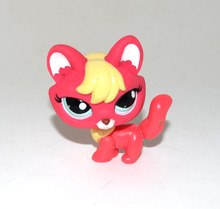 Littlest Pet Shop Animal Blue Eyes Red Yellow Fox Figure Doll Child Toy