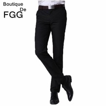 Size 29-40 Easy Care Black Straight Casual Business Pants Men Office Pants Brand Formal Pants Mens Wedding Trousers