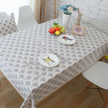 European Crown Letter Printed Cotton Linen Tablecloths Rectangular Lace Tablecloth for Wedding Home Dining Table Cloth