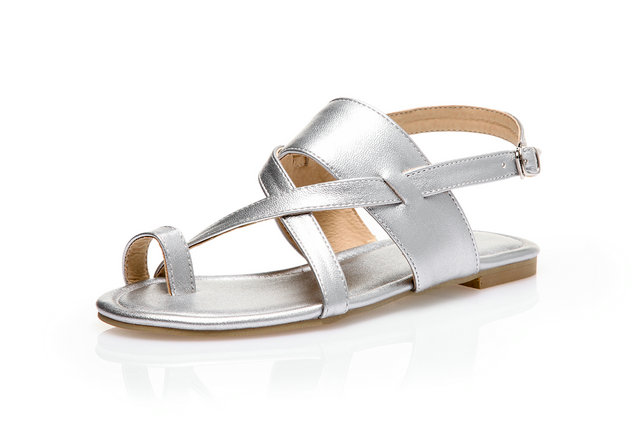 women Flat with Solid sandals Rome Buckle Strap Gladiator Cross-Strap shoes 2017 summer new womens shoes plus size 46 mujer<br><br>Aliexpress