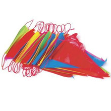 New Outdoor 22m Rainbow Bunting Party Flags/Huge Birthday Parties/Market Stalls W15(China)