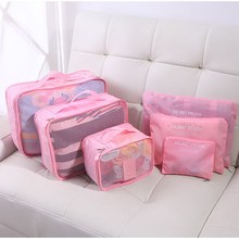 Large Capacity 6 Sets Travel Storage Bags Hot Sale  Luggage Clothes Tidy Organizer Pouch Polyester Suitcase