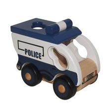 BOHS Educational Wooden Mlv Series i -Patrol Black Maria Paddy Wagon  Car Toy  Model Children Kids  Set Little Rigs Collection