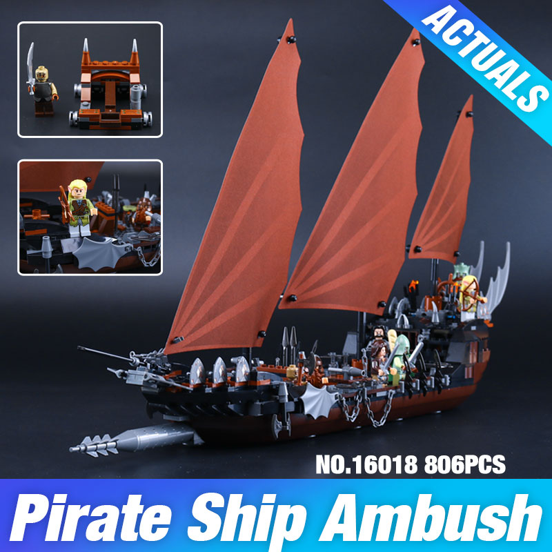 New Lepin 16018 Genuine The lord of rings Series The Ghost Pirate Ship Set  Building Block Brick Toys  79008 <br><br>Aliexpress
