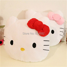 J.G Chen 2pcs/lot Lovely Hello Kitty Pillow Toy Soft Hand Warmer Warm Stuffed Plush Hello Kitty Cushion 2 Color Plush Kids Toys(China)