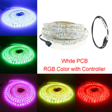 1M 5050 USB Led Strip 60led RGB With Mini 3Keys Contoller 5V Waterproof White/Black PCB for TV Background Computer home DIY W