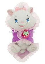 New Babies Marie Cat Plush Baby Doll with Blanket Toy 10'' 25cm Cute Stuffed Animals Kids Toys Dolls For Children Gifts