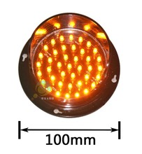 New arrival customized mould 100mm yellow flashing LED traffic light lamps