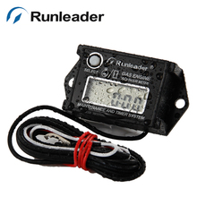 Runleader Inductive digital tach hour meter for motorcycle marine snowmobile jet ski motorboat outboard ATV(China)