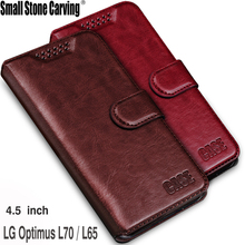Leather Cover Wallet Cell Phone Cases For LG Optimus L70 L65 D325 MS323 D329 D320N D285 D280 L 70 65 Case Cover For LG L70 Bags