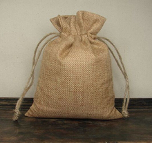 "100pcs 8cmx11cm/3x4"" Mini natural jute/ burlap hemp Drawstring Christmas Jewelry Gift Pouches handmade soap packaging Sacks Bags"