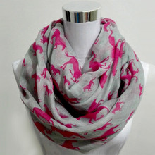 New fashion Women Ladies Viscose Cotton big small Horse Print scarf horse infinity Animal horse Scarves Shawl Wrap(China)
