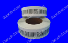 8.2mhz eas soft label 4*4cm eas security label for rf checkpoint system dhl free shipping 5000pcs/lot
