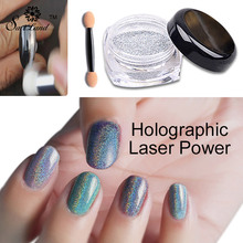 1g/Box Holographic Laser Powder Silver Glitters Nail Rainbow Sequins Nail Paillettes Hologram Nail Sparkle Glitter Art(China)