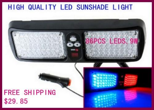 High intensity DC12V 9W Led car sunshade warning lights,strobe visor emergency light,flash lights<br><br>Aliexpress
