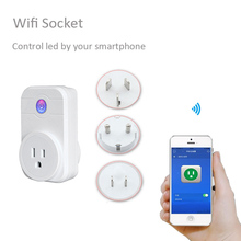 240V Wifi Smart Socket Outlet Wireless APP Remote Control Home Appliance Timing Switch quick wall charger for iOS iPhone Android(China)