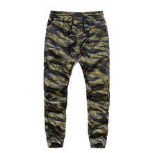 Loose Fit Plus Size High Street Fashion Mens Jeans Military Camouflage Jogger Pants Cotton Drawstring Ankle-Tied Army Jeans Men(China)