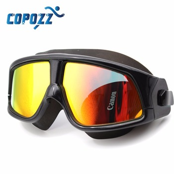 Copozz Swim Goggles for Men Women's Glasses Anti-Fog UV Large adults Sport Waterproof  eyewear  Silicone