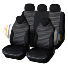 AUTOYOUTH Car Seat Covers Universal Fit Fashion Car Seat Protectors Sporty Car-Styling Auto Accessories Airbag Compatible Black