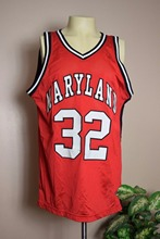 VINTAGE MARYLAND TERRAPINS #32 College Basketball Jersey Embroidery Stitched Custom any Number and name