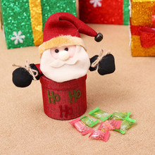 Christmas Decorations Cute Santa Claus Elk Snowman Candy Jars Container Christmas Ornaments Kids Gifts Holiday Party Table Decor(China)