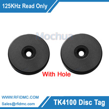125Khz Rfid Tag EM4100 ID Round Coin Card for Patrol system black checkpoint