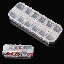 12 Compartment Empty Plastic Storage Case Rhinestones Dired Flower Nail Art Products Earring Jewelry Container Organizer Box #10